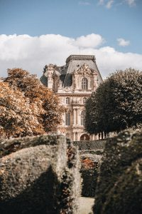 Picture from the gardens at the Louvre Paris France.